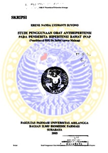Studi Penggunaan Obat Antihipertensi Pada Penderita Hipertensi Rawat Inap Penelitian Di Rsu Dr Saiful Anwar Malang Repository Unair Repository