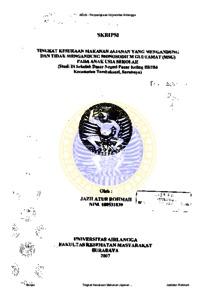 PENGARUH AKTIFITAS FISIK TERHADAP KEJADIAN OBESITAS PADA MURID
