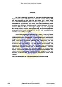Pembatalan Izin Usaha Pertambangan Pada Wilayah Tambang Di