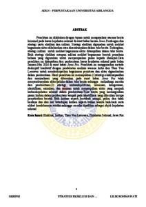 Strategi Eksklusi Dan Inklusi Wacana Berita Kriminal Pada Media Cetak Harianjawa Pos Analisis Wacana Theo Van Leeuwen Repository Unair Repository