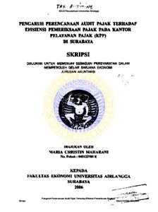 Contoh Proposal Skripsi Akuntansi Perpajakan Download Kumpulan Berbagai Skripsi